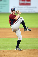 July 4th 2008:  Pitcher Neil Schenk of the Hudson Valley Renegades, Class-A affiliate of the Tampa Bay Rays, during a game at Dwyer Stadium in Batavia, NY.  Photo by:  Mike Janes/Four Seam Images