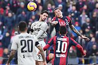 Mattia De Sciglio of Juventus , Federico Santander of Bologna <br /> Bologna 24-02-2019 Stadio Dall'Ara <br /> Football Serie A 2018/2019 Bologna - Juventus<br /> Foto Image Sport / Insidefoto
