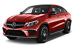 2017 Mercedes Benz GLE-Class-Coupe GLE43-AMG 5 Door SUV Angular Front stock photos of front three quarter view