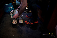 old-school (& proved) shoe-drying technique<br /> <br /> 105th Liège-Bastogne-Liège 2019 (1.UWT)<br /> One day race from Liège to Liège (256km)<br /> <br /> ©kramon
