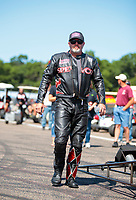 Aug 18, 2019; Brainerd, MN, USA; NHRA top fuel nitro Harley Davidson motorcycle rider Tii Tharpe during the Lucas Oil Nationals at Brainerd International Raceway. Mandatory Credit: Mark J. Rebilas-USA TODAY Sports