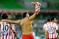 MELBOURNE, AUSTRALIA - FEBRUARY 12: John Aloisi of the Heart celebrates kicking a goal in the round 27 A-League match between the Melbourne Heart and Sydney FC at AAMI Park on February 12, 2011 in Melbourne, Australia. (Photo Sydney Low / AsteriskImages.com)