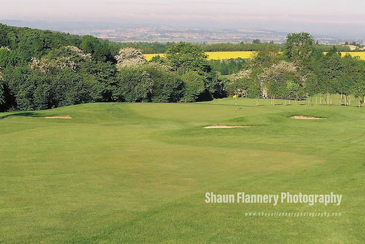 Pix: Shaun Flannery/shaunflanneryphotography.com...COPYRIGHT PICTURE>>SHAUN FLANNERY>01302-570814>>07778315553>>..18th May 2004..............Hickleton Golf Club, Lidgett Lane, Hickleton, Doncaster, DN5 7BE..Golf Course - 7th green