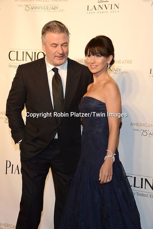Alec Baldwin and wife Hilaria Baldwin attend the Opening Night of American Ballet Theatre 2014 Fall Gala on October 22,2014 at the David Koch Theater at Lincoln Center in New York City. <br /> <br /> photo by Robin Platzer/Twin Images<br />  <br /> phone number 212-935-0770