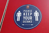 General view of a Please Keep Your Distance sign ahead of Essex CCC vs Nottinghamshire CCC, LV Insurance County Championship Group 1 Cricket at The Cloudfm County Ground on 3rd June 2021