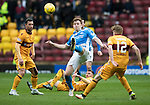 Motherwell v St Johnstone…18.03.17     SPFL    Fir Park<br />Liam Craig clears from Chris Cadden<br />Picture by Graeme Hart.<br />Copyright Perthshire Picture Agency<br />Tel: 01738 623350  Mobile: 07990 594431