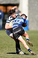Oliver Griffin of Otago Boys, during the 1st XV South Island Final rugby match between Otago Boys High School 1st XV and Nelson College 1st XV at Littlebourne in Dunedin, New Zealand on Saturday, 31 August 2019. Photo: Joe Allison / lintottphoto.co.nz