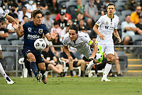 3rd January 2021; Campbelltown Stadium, Leumeah, New South Wales, Australia; A League Football, Macarthur FC versus Central Coast Mariners; Mark Milligan of Macarthur FC dives to head the ball clear of danger