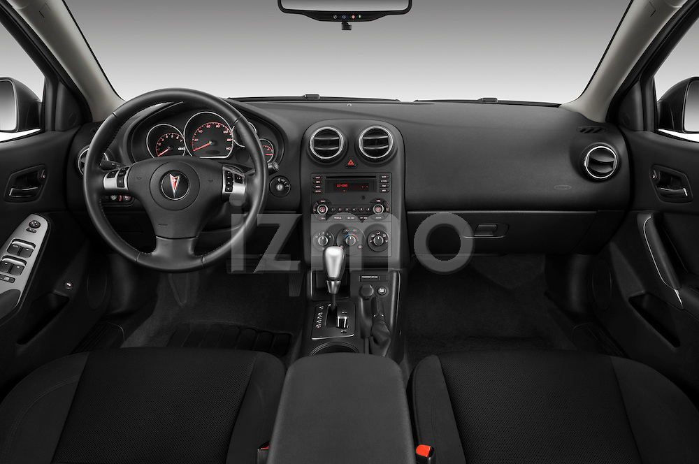 Straight dashboard view of a 2008 Pontiac G6 Sedan GT.
