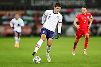SWANSEA, WALES - NOVEMBER 12: Giovanni Reyna #7 of the United States  traps a ball during a game between Wales and USMNT at Liberty Stadium on November 12, 2020 in Swansea, Wales.