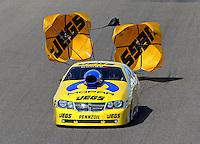Feb. 24, 2013; Chandler, AZ, USA; NHRA pro stock driver Jeg Coughlin during the Arizona Nationals at Firebird International Raceway. Mandatory Credit: Mark J. Rebilas-