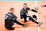 Lima, Peru -  25/August/2019 -   Austin Hinchey (#3) in action as Canada takes on Costa Rica in men's sitting volleyball at the Parapan Am Games in Lima, Peru. Photo: Dave Holland/Canadian Paralympic Committee.