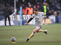 14th February 2021; Sixways Stadium, Worcester, Worcestershire, England; Premiership Rugby, Worcester Warriors versus Wasps; Jimmy Gopperth of Wasps kicks a conversion