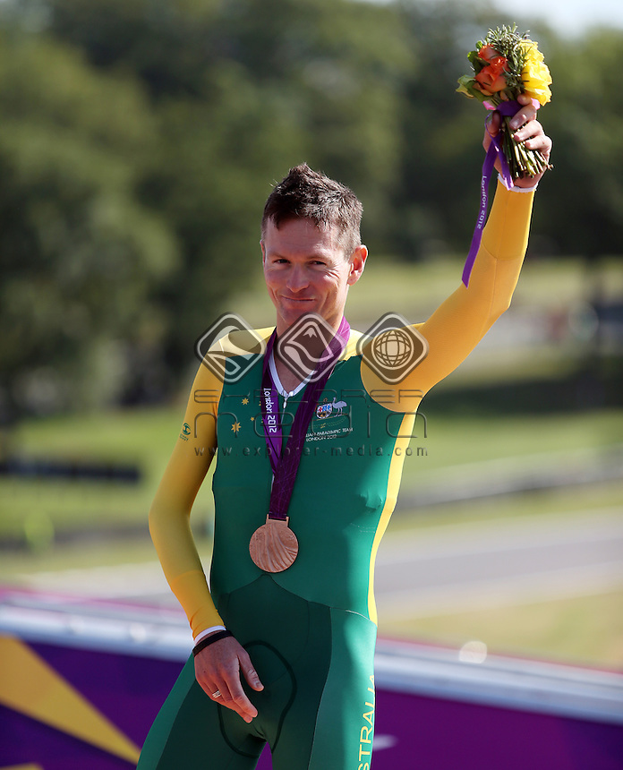 Michael Gallagher (AUS), Bronze. Men's Individual C 5 Time Trial.<br /> Cycling Road, Brands Hatch (Wednesday 5th Sept)<br /> Paralympics - Summer / London 2012<br /> London England 29 Aug - 9 Sept <br /> © Sport the library/Joseph Johnson