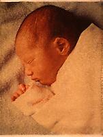 Sleeping Baby Boy - Polaroid Transfer
