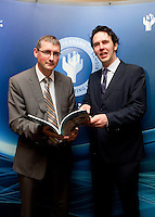 """**** NO FEE PIC***.12/04/2012 .Dr. Shane Kilcommins UCC,.Prof Anthony Pemberton International Victimology Institute Tilburg.during a conference on the """"The EU Directive on Victims Rights: Opportunities and Challenges for Ireland"""" hosted by the the Irish Council for Civil Liberties (ICCL) in Dublin Castle..Photo: Gareth Chaney Collins"""