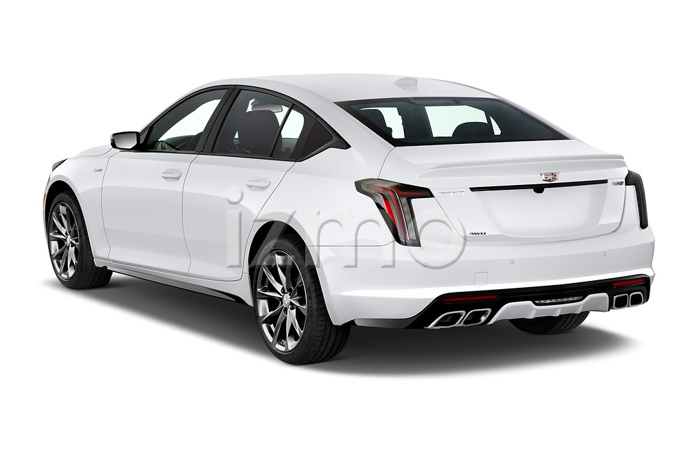 Car pictures of rear three quarter view of 2020 Cadillac CT5-V V-Series 4 Door Sedan Angular Rear