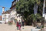 Germany, Baden-Wuerttemberg, Markgraefler Land, Muellheim, centre, townhall at Markgraefler square