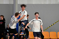 Tauranga Boys College celebrates after scoring a goal during the NZ Secondary Schools Senior Boys Final between Wellington College and Tauranga Boys' College at ASB Sports Centre, Wellington on 26 March 2021.<br /> Copyright photo: Masanori Udagawa /  www.photosport.nz