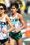 Feb. 27, 2011 - Tokyo, Japan - Yuki Kawauchi of Japan comes in third place to finish off the Tokyo Marathon. (Photo by Yutaka/AFLO SPORT)