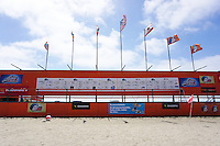 Fiesta Island, Mission Bay, San Diego CA, USA.  May 2-3, 2015:  More than 150 youth and adult teams converge on Fiesta Island in San Diego for the 7th Annual Beach Soccer Jam.