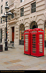 Traditional K6 Red Telephone Boxes, London, England, UK