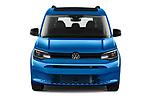 Car photography straight front view of a 2021 Volkswagen Caddy California-Maxi 5 Door Camper Van Front View