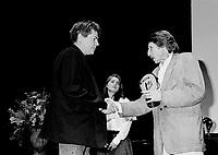 September 6, 1994 File Photo -  Andre Forcier (L)<br /> closing award ceremony at the 1994 World Film Festival.