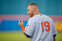 St. Lucie Mets Todd Frazier (19) during warmups before a Florida State League game against the Florida Fire Frogs on April 12, 2019 at First Data Field in St. Lucie, Florida.  Florida defeated St. Lucie 10-7.  (Mike Janes/Four Seam Images)