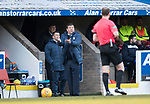 St Johnstone v Ross County…24.02.18…  McDiarmid Park    SPFL<br />Tommy Wright argues with referee Willie Collum<br />Picture by Graeme Hart. <br />Copyright Perthshire Picture Agency<br />Tel: 01738 623350  Mobile: 07990 594431