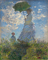 Claude Monet - The Walk, Woman with a Parasol (1875). Washington, National Gallery of Art.