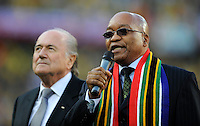 South African President Jacob Zuma and Fifa President Sepp Blatter