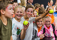 The Hague, The Netherlands, September 17, 2017,  Sportcampus , Davis Cup Netherlands - Chech Republic, Kids pressconference<br /> Photo: Tennisimages/Henk Koster