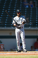 Glendale Desert Dogs second baseman Laz Rivera (8), of the Chicago White Sox organization, at bat during an Arizona Fall League game against the Mesa Solar Sox at Sloan Park on October 27, 2018 in Mesa, Arizona. Glendale defeated Mesa 7-6. (Zachary Lucy/Four Seam Images)