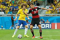 Miroslav Klose of Germany and David Luiz of Brazil