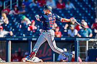 2 March 2019: Minnesota Twins top prospect outfielder Luke Raley at bat during a Spring Training game against the Washington Nationals at the Ballpark of the Palm Beaches in West Palm Beach, Florida. The Twins fell to the Nationals 10-6 in Grapefruit League play. Mandatory Credit: Ed Wolfstein Photo *** RAW (NEF) Image File Available ***