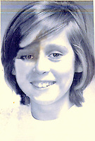 COPY BY TOM BEDFORD<br /> Pictured: Janett Bickley when she was a young girl, around the age when  the mountain of coal slurry fell into her school in the village of Aberfan, Wales, UK