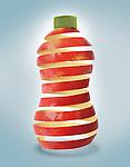 Illustrative image of an apple juice bottle