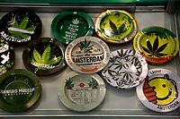 marijuana ashtrays<br /> Rome February 21st 2020. Hemp Fair Canapa Mundi Rome 2020.<br /> Photo Samantha Zucchi Insidefoto