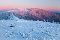 Grassy Ridge bathed in sunset light