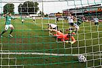 19.09.2020, Dietmar-Scholze-Stadion an der Lohmuehle, Luebeck, GER, 3. Liga, VfB Luebeck vs 1.FC Saarbruecken <br /> <br /> DFB REGULATIONS PROHIBIT ANY USE OF PHOTOGRAPHS AS IMAGE SEQUENCES AND/OR QUASI-VIDEO.<br /> <br /> im Bild / picture shows <br /> Tor zum 1:0 . Torschütze/Torschuetze Patrick Hobsch (VfB Luebeck) trifft zum 1:0 ins Tor von Torwart Daniel Batz (1.FC Saarbruecken)<br /> <br /> Foto © nordphoto / Tauchnitz