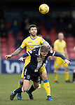 Ross County v St Johnstone…18.02.17     SPFL    Global Energy Stadium, Dingwall<br />Richie Foster battles with Marcus Fraser<br />Picture by Graeme Hart.<br />Copyright Perthshire Picture Agency<br />Tel: 01738 623350  Mobile: 07990 594431