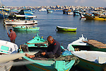 Port of Alexandria  with fisherman in boat