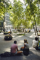 - USA, New York, internal garden of IBM building<br />