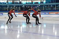 SCHAATSEN: HEERENVEEN, 2020, IJsstadion Thialf, TEAM IKO, ESMEE VISSER, MELISSA WIJFJE, LETITIA DE JONG, ©foto Martin de Jong