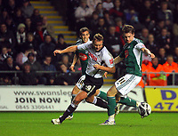 ATTENTION SPORTS PICTURE DESK<br /> Pictured L-R: Lee Trundle of Swansea against Kari Amason of Plymouth Argyle<br /> Re: Coca Cola Championship, Swansea City Football Club v Plymouth Argyle at the Liberty Stadium, Swansea, south Wales. Tuesday 08 December 2009