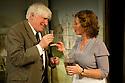 "London, UK. 10/10/2011. ""Drama at Inish"", by Lennox Robinson, opens at the multi-award winning Finborough Theatre. Cast comprises: Juliet Cadzow, Anthony Delaney, Rupert Frazer, Hermione Gulliford, Seamus Hoolihan, Celia Imrie, Jack Klaff, Lee Knight, Christopher Logan, Frances Low, Oengus MacNamara. Ellie Turner, David Walshe. Picture shows:Celia Imrie (as Lizzie Twohig) and Jack Klaff (as John Twohig). Photo credit: Jane Hobson"