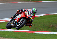 Glenn Irwin (2) of Be Wiser Ducati during 2nd practice in the MCE BRITISH SUPERBIKE Championships 2017 at Brands Hatch, Longfield, England on 13 October 2017. Photo by Alan  Stanford / PRiME Media Images.