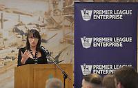 Pictured: Helen Elton Wednesday 25 November 2015<br /> Re: Schools take part in this year's Premier League Enterprise vent at Penderyn Suite, Liberty Stadium, Swansea, UK