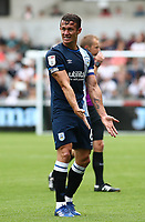 25th September 2021; Swansea.com Stadium, Swansea, Wales; EFL Championship football, Swansea versus Huddersfield; Jonathan Hogg of Huddersfield Town shows his frustration after a missed opportunity